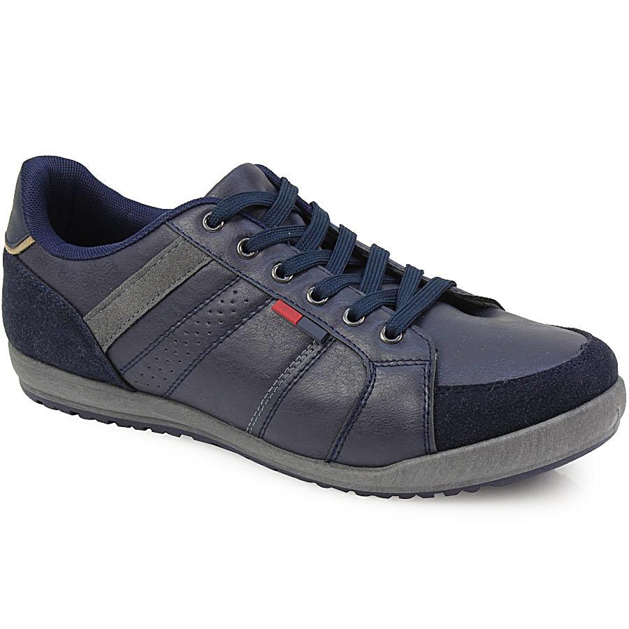 Ανδρικά sneakers με δίχρωμο σχέδιο Μπλε