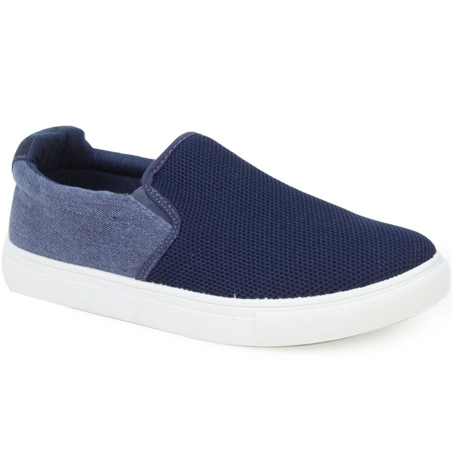 Ανδρικά sneakers με γκοφρέ λεπτομέρεια Μπλε