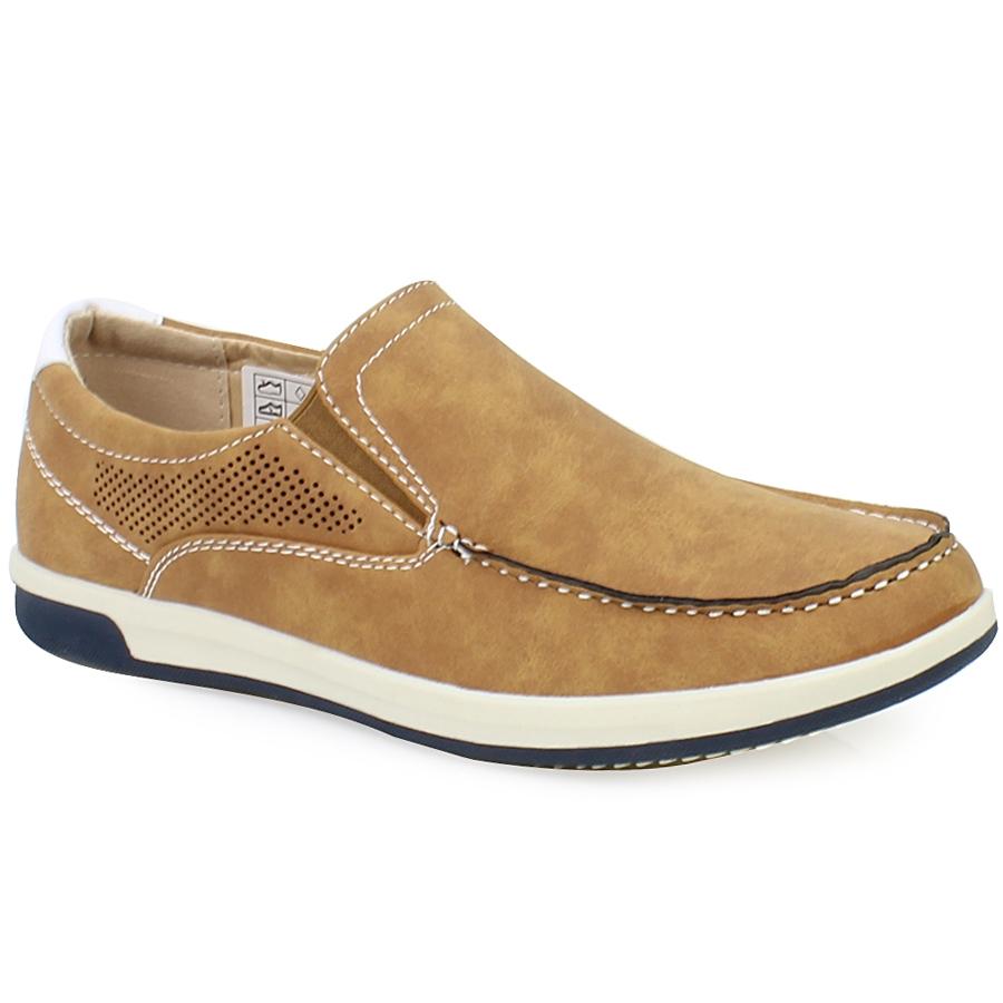 Ανδρικά loafers με περφορέ λεπτομέρεια Ταμπά