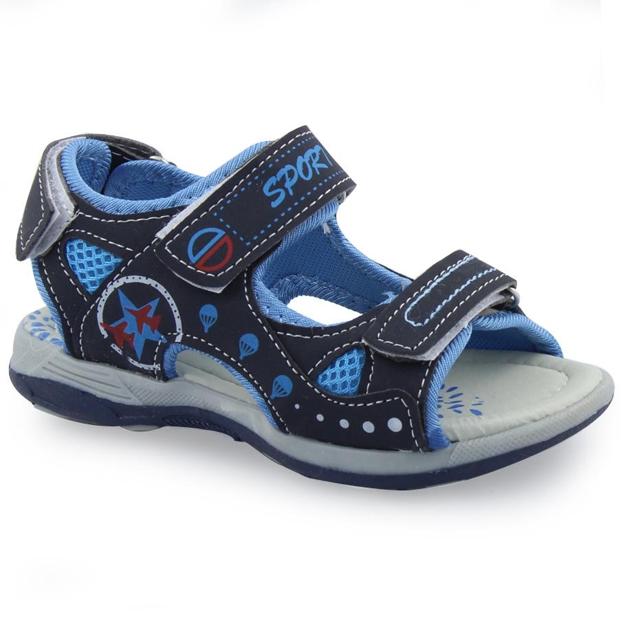 e50aba426b9 Παιδικά πέδιλα δίχρωμα με τριπλό αυτοκόλλητο Μπλε. Inshoes