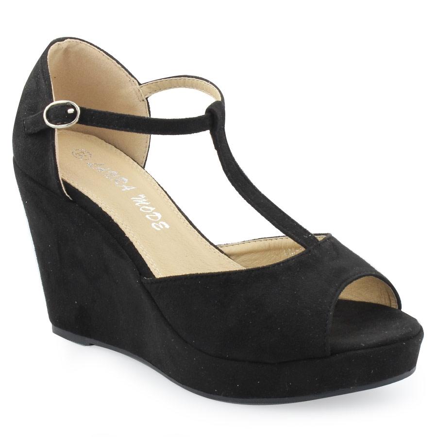 -20% Inshoes Γυναικείες πλατφόρμες μονόχρωμες Μαύρο a5266e674e9
