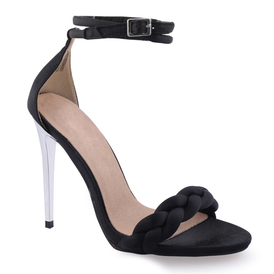 d15e07c1f53 Παπούτσια Γυναικεία πέδιλα με πλέξη στη φάσα Μαύρο - Observatory.gr