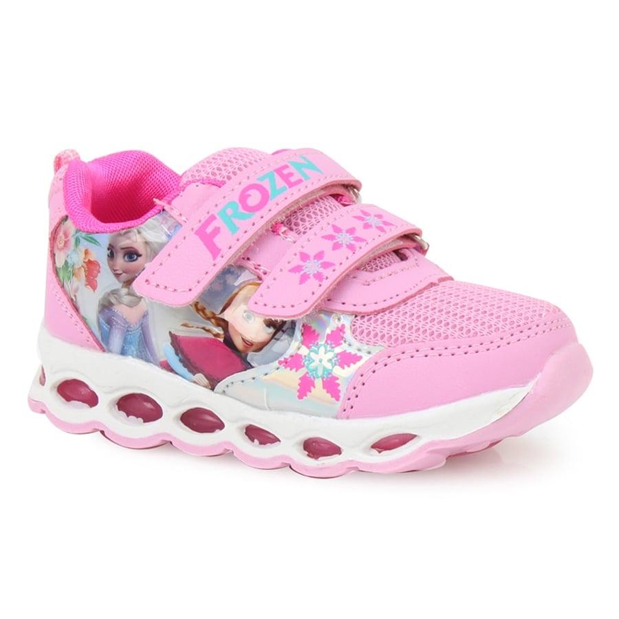 5c7f9b05ab6 Παιδικά αθλητικά με print Frozen με φωτάκια Ροζ ⋆ EliteShoes.gr