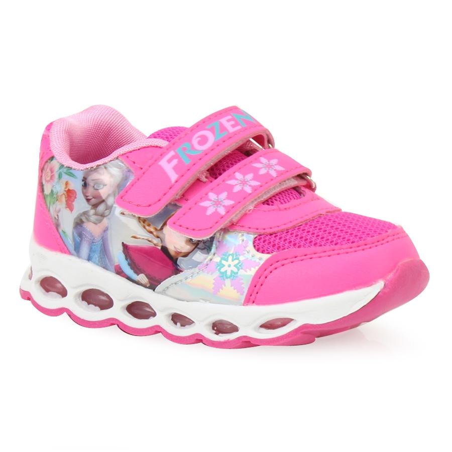 52fa508be52 Παιδικά αθλητικά με print Frozen με φωτάκια Φούξια ⋆ EliteShoes.gr
