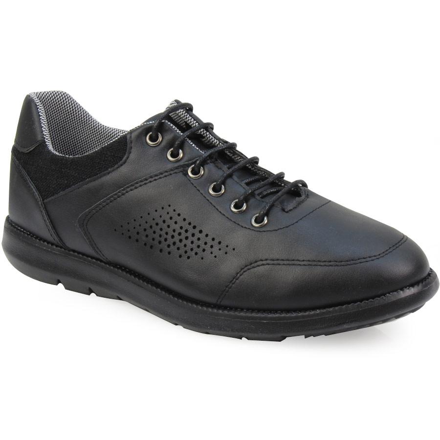 Ανδρικά sneakers με υφασμάτινο γιακά Μαύρο