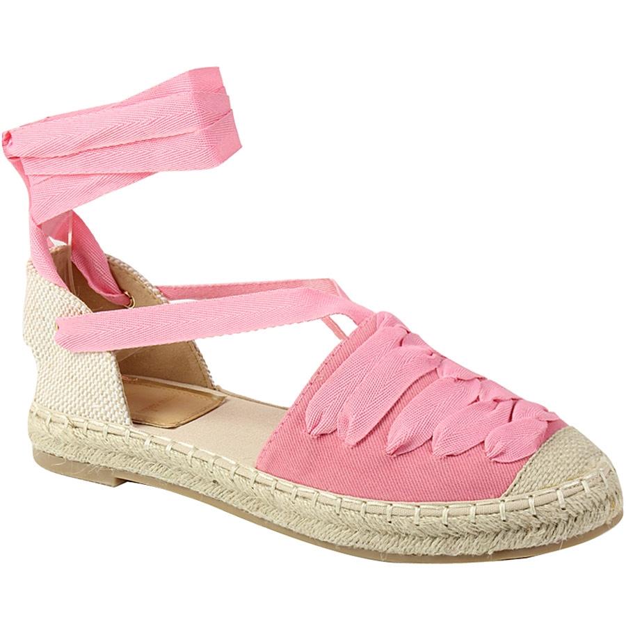 65cbfe7d8f9 Γυναικεία παπούτσια Γυναικείες εσπαντρίγιες με κορδόνια και δέσιμο ...