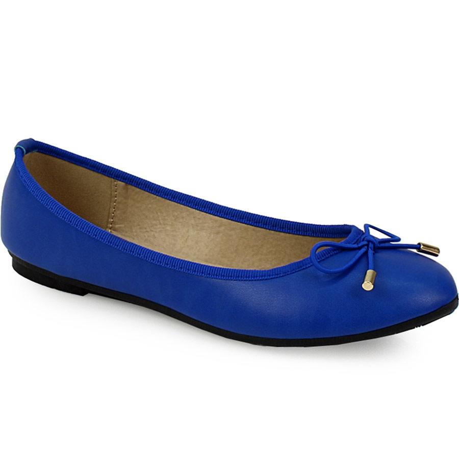 Γυναικείες μπαλαρίνες με φιογκάκι Μπλε