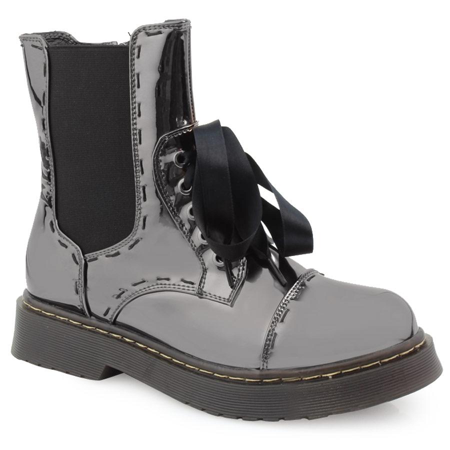 Γυναικεία μποτάκια σε μεταλλικές αποχρώσεις Ασημί γυναικα   παπούτσια   μποτακια