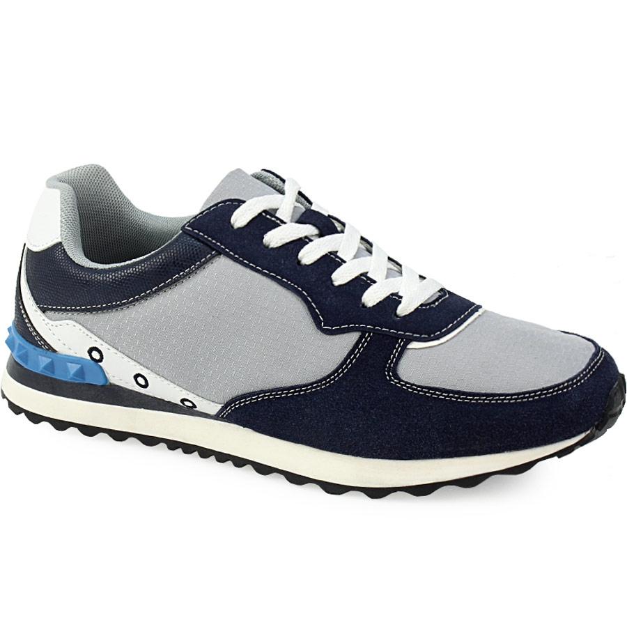 Ανδρικά sneakers με διακομητικές λεπτομέρειες Μπλε