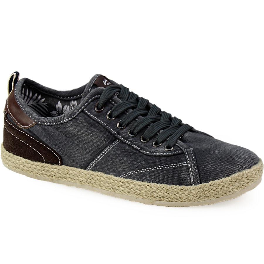 Ανδρικά sneakers με εσπαντρίγια στη σόλα Γκρι