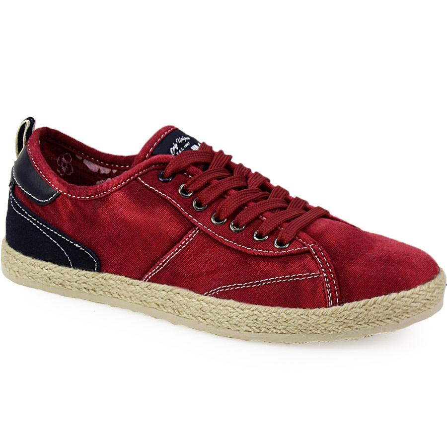 Ανδρικά sneakers με εσπαντρίγια στη σόλα Κόκκινο