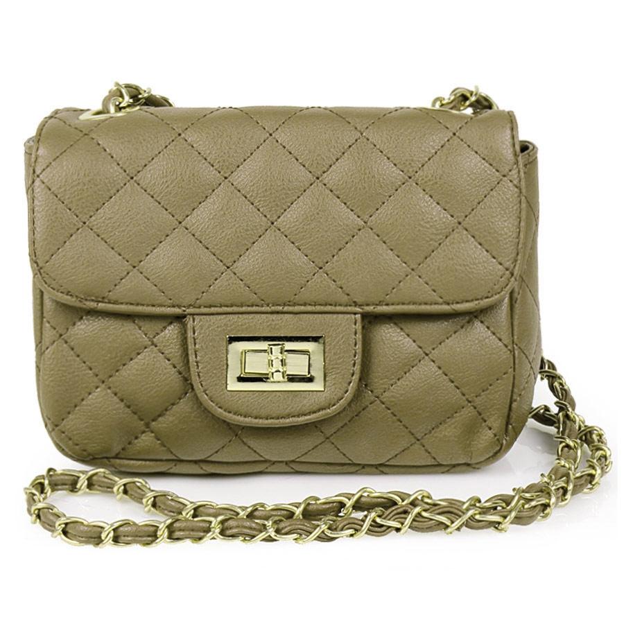 -18% Inshoes Γυναικείες τσάντες ώμου καπιτονέ με χρυσό κούμπωμα Πούρο f64d953abca