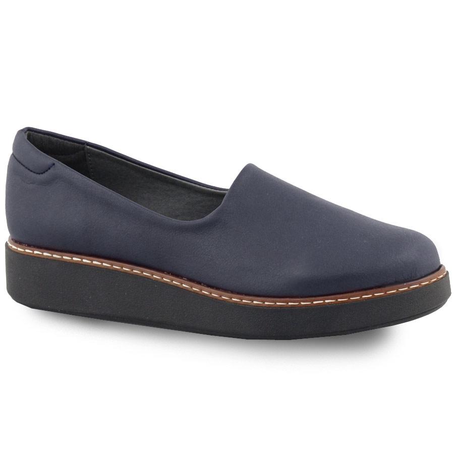 Γυναικεία loafers σε απλή γραμμή Μπλε