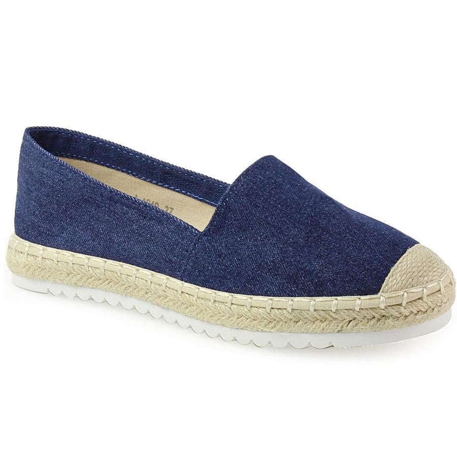 e623ac29cbb0 -50% Inshoes Γυναικείες εσπαντρίγιες με πλεκτό σχέδιο και λευκή σόλα Μπλε