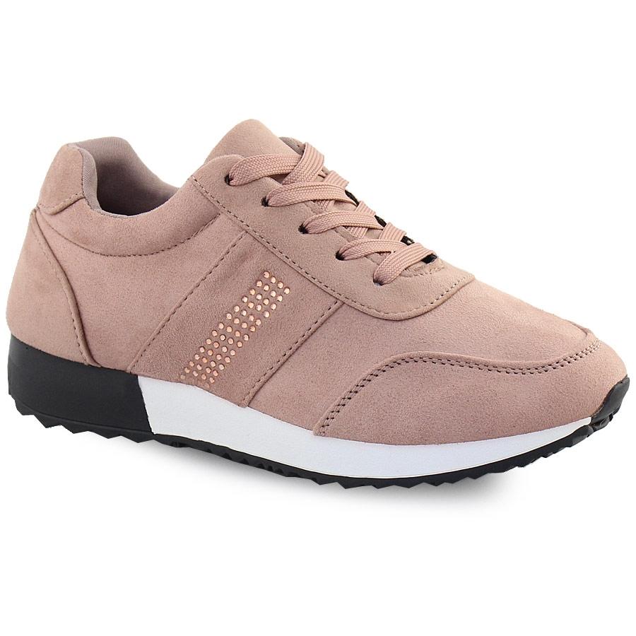 Γυναικεία sneakers με strass Ροζ