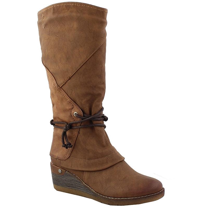 Γυναικείες μπότες με περιμετρικό δέσιμο με κορδόνι Ταμπά