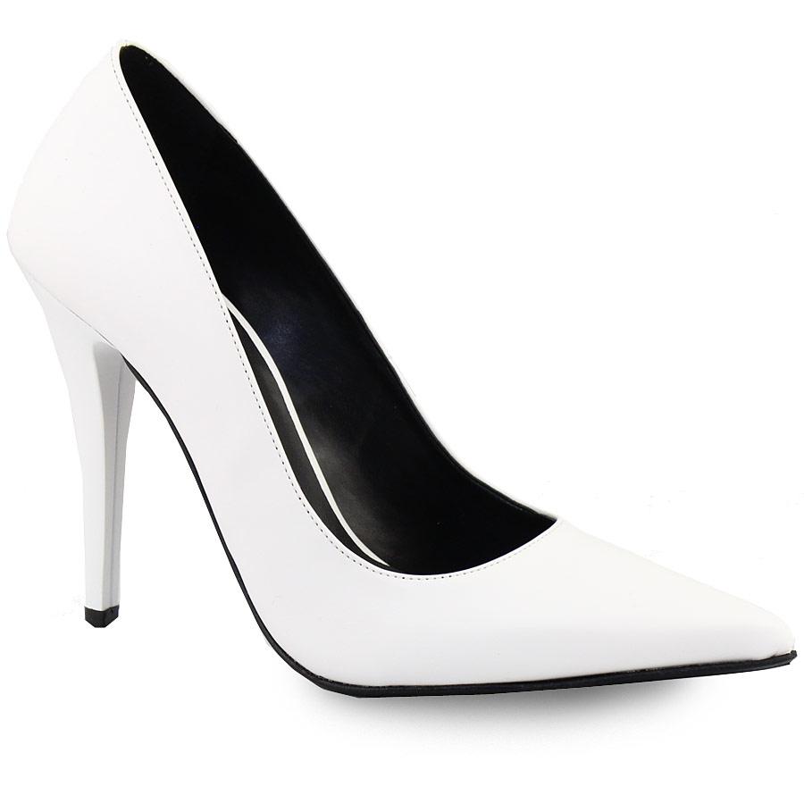 Γυναικείες γόβες ψηλοτάκουνες μυτερές Λευκό