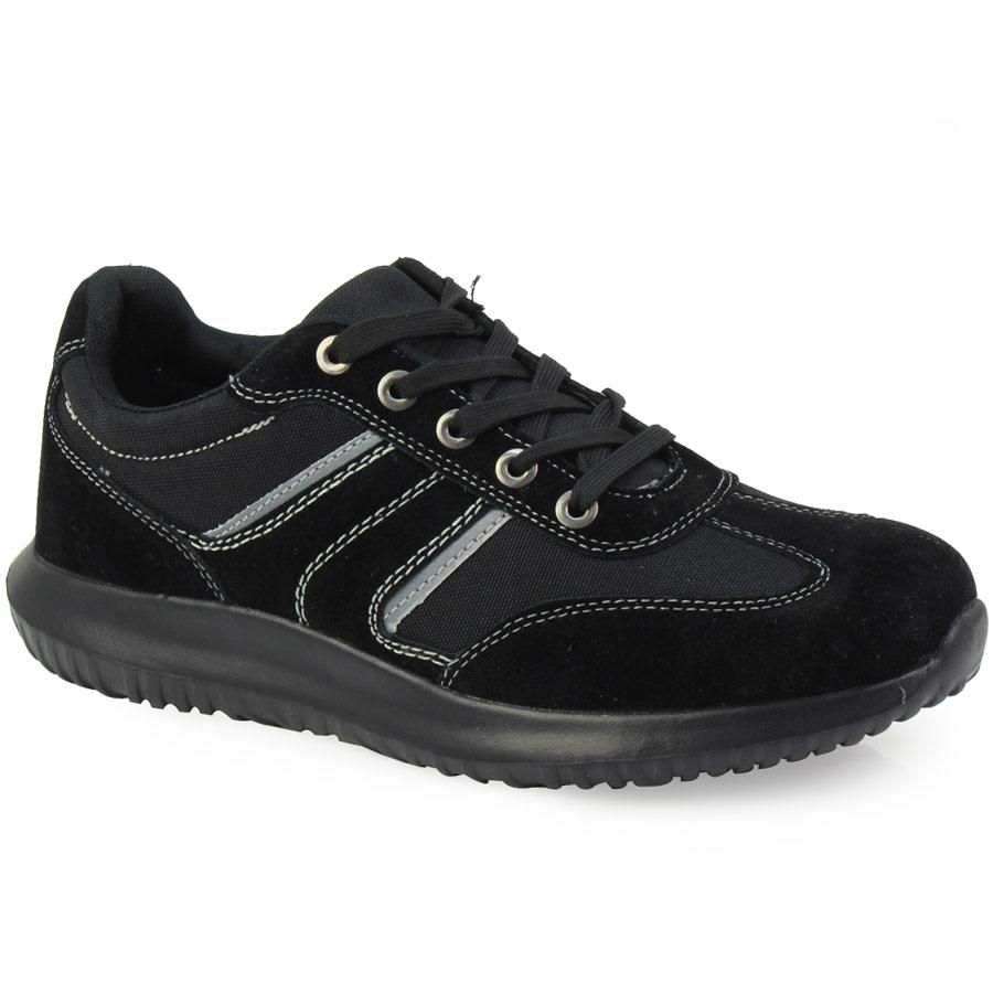 Ανδρικά sneakers με διακοσμητικά γαζιά Μαύρο
