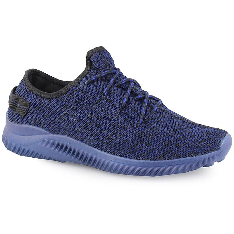 Ανδρικά sneakers δίχρωμα με λάστιχο στο πίσω μέρος Μπλε