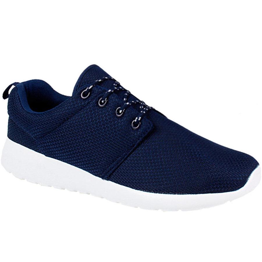 Ανδρικά sneakers με γκοφρέ μοτίβο και ελαστική σόλα Μπλε
