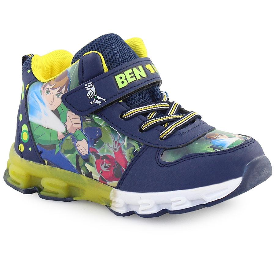 -18% Inshoes Παιδικά αθλητικά Ben 10 με φωτάκια Μπλε 3f04143c242