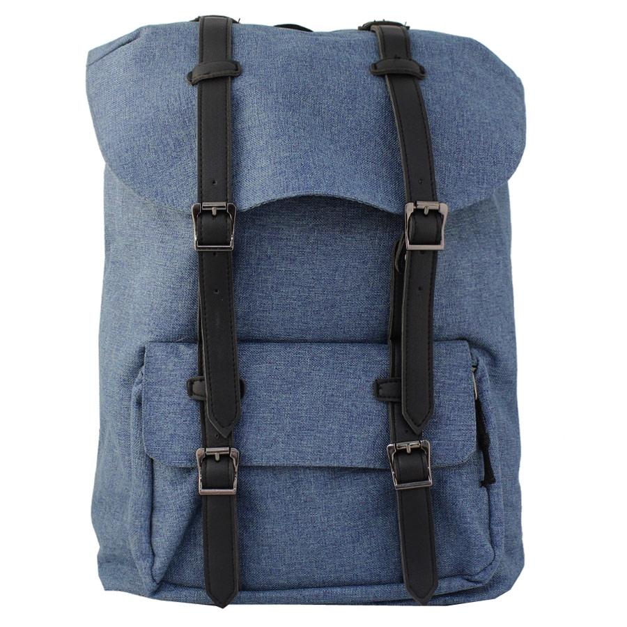 Ανδρικά σακίδια πλάτης με κάθετα διπλά λουριά Μπλε ανδρασ   τσάντες   σακιδια πλατησ