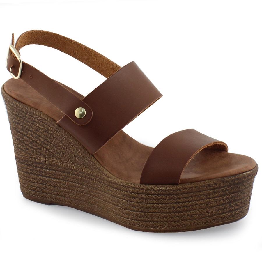 5cfbf0f6c5a -17% Inshoes Γυναικείες δερμάτινες πλατφόρμες μονόχρωμες Ταμπά