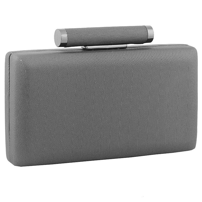 Inshoes Φάκελοι clutch με στρογγυλή χειρολαβή Ασημί 9122 77 802e84f7a5c