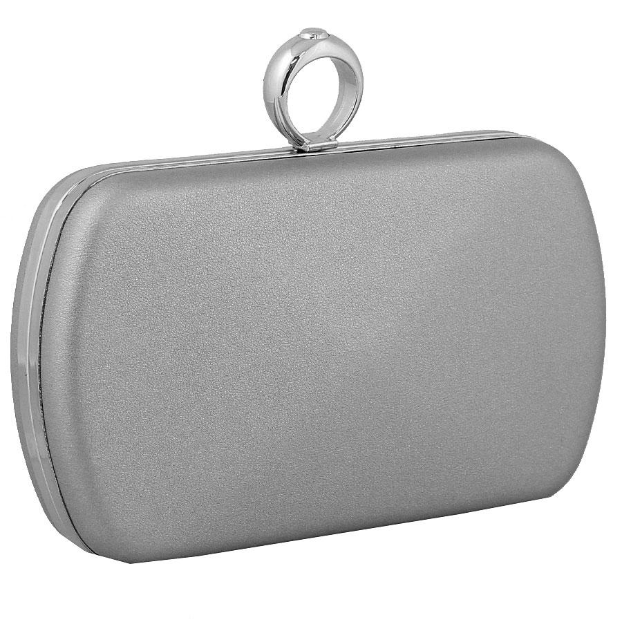 Φάκελοι clutch με κυκλικό μεταλλικό κούμπωμα Ασημί