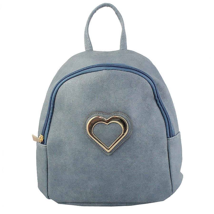 Σακίδια πλάτης με μεταλλική καρδιά Μπλε
