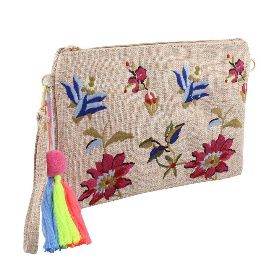 Γυναικείοι φάκελοι με κεντητά λουλούδια Πούρο γυναικα   τσάντες   φακελοι