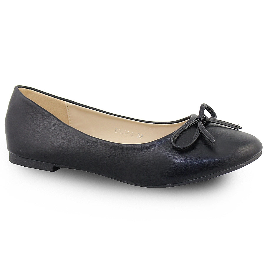 Γυναικείες μπαλαρίνες σε απλή γραμμή με φιογκάκι Μαύρο γυναικα   παπούτσια   μπαλαρινεσ