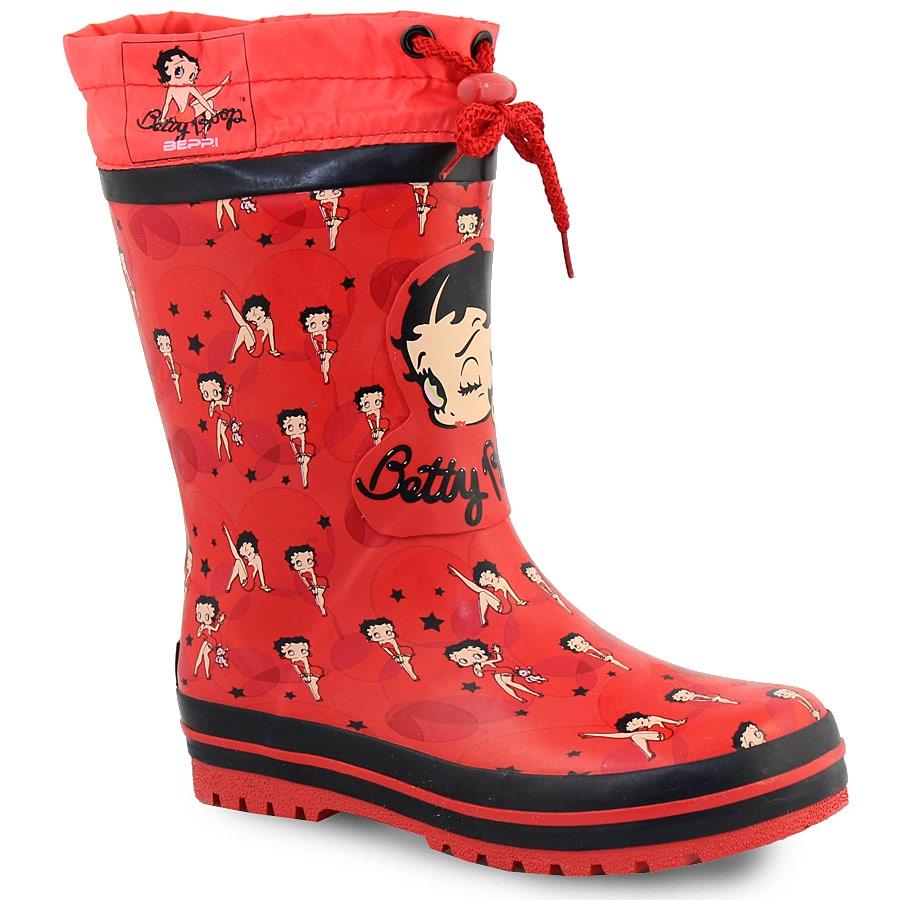 Παιδικές γαλότσες Betty Boop Κόκκινο