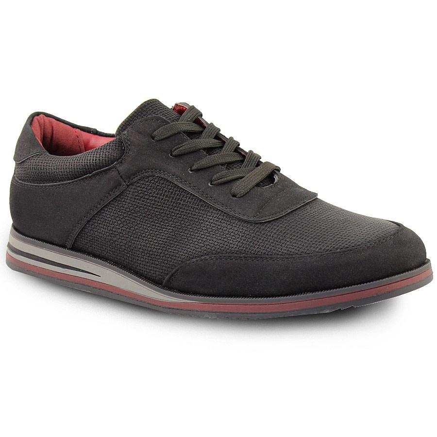 Ανδρικά sneakers με ρίγα στη σόλα Μαύρο