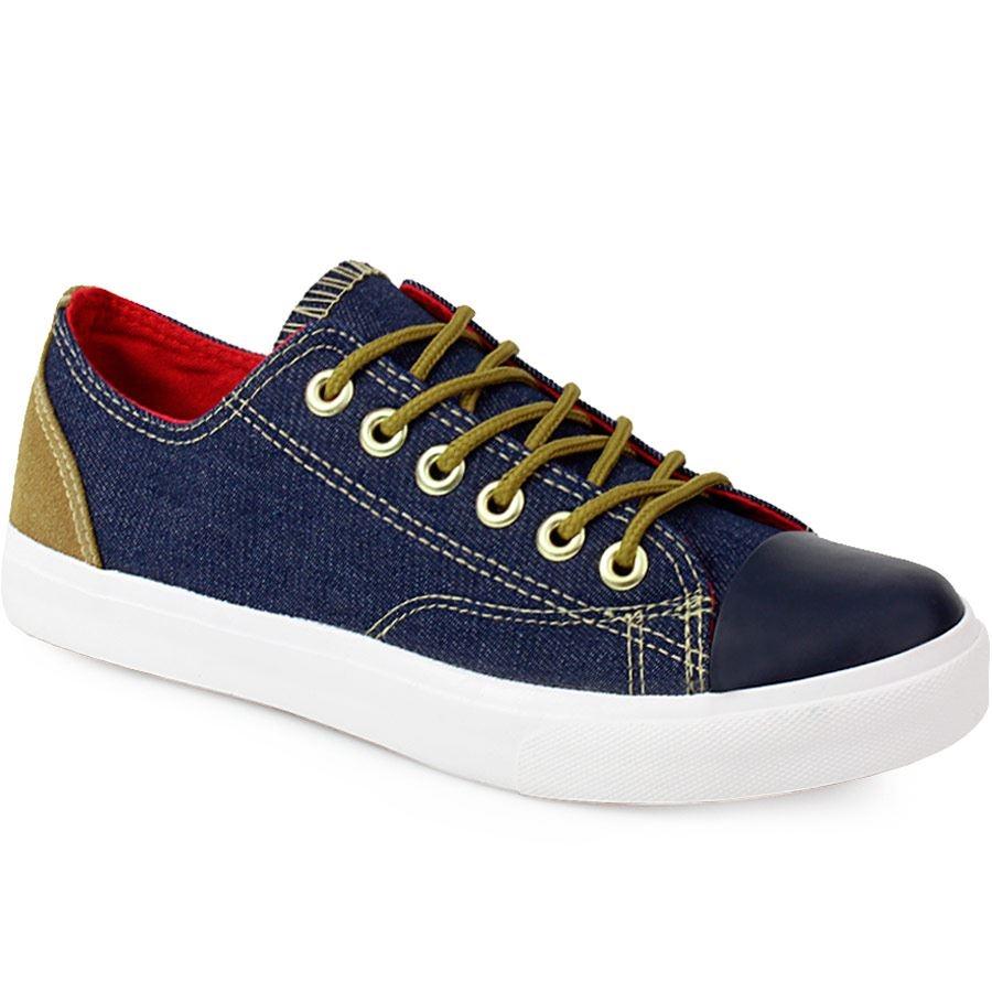 Ανδρικά sneakers με διακοσμητικά γαζιά Μπλε
