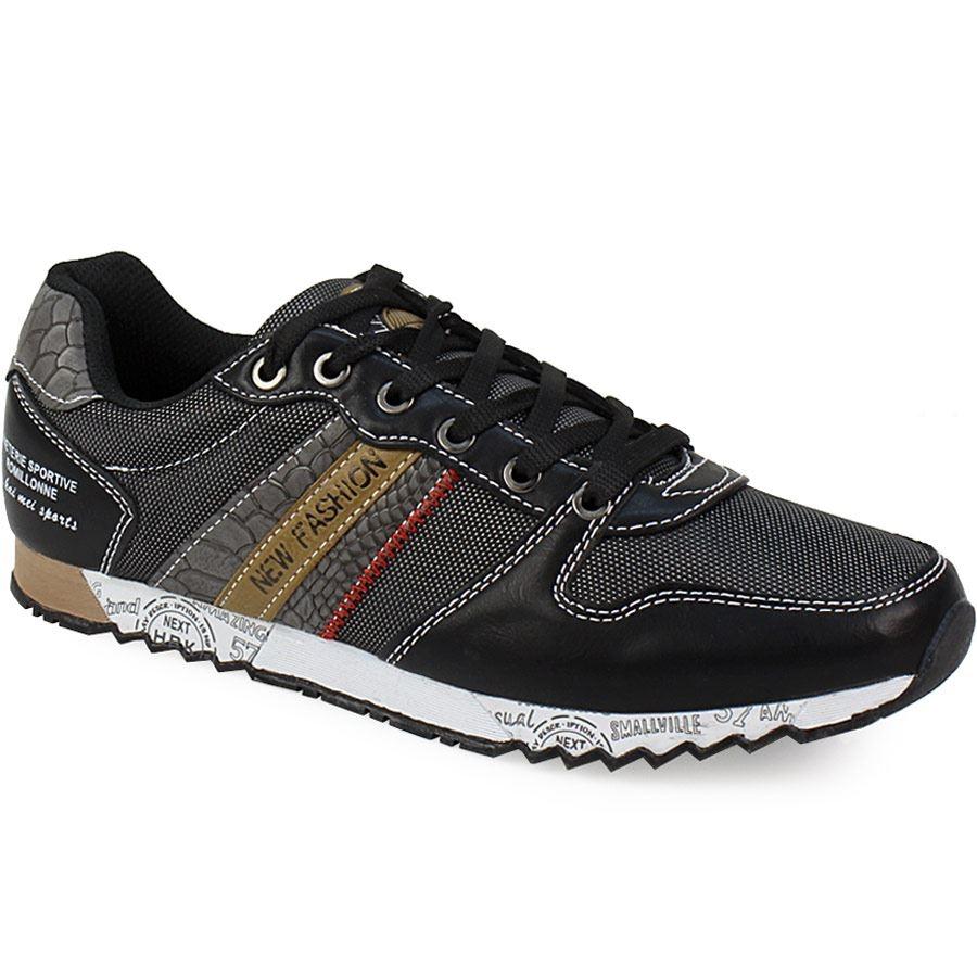 Ανδρικά sneakers με σχέδιο στη σόλα Μαύρο