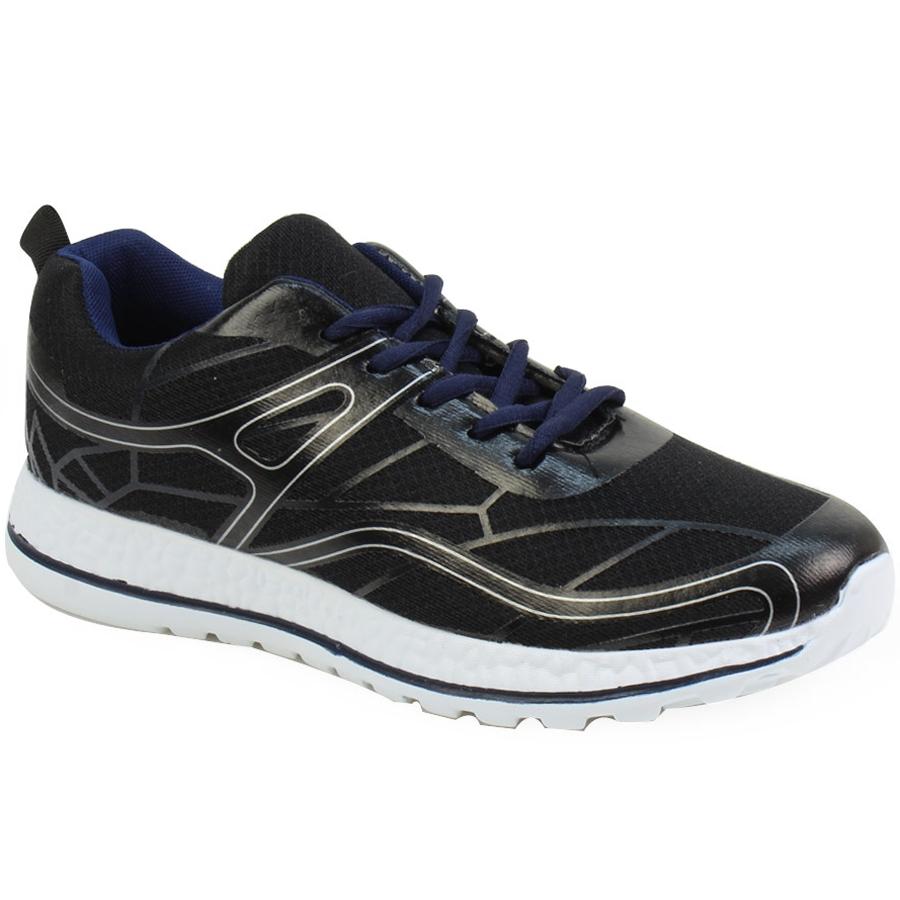 Ανδρικά αθλητικά με ρίγα στη σόλα Μαύρο ⋆ EliteShoes.gr 1dda222709f