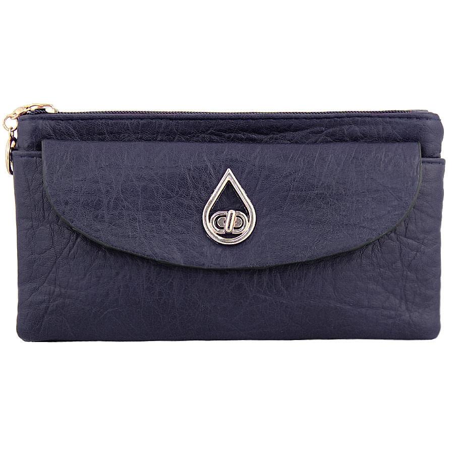 Πορτοφόλια με μεταλλικό σχέδιο και εξωτερικές τσέπες Μπλε