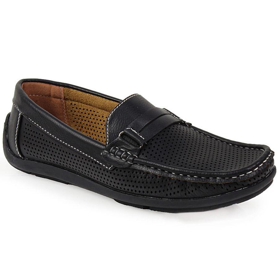 Ανδρικά loafers με περφορέ σχέδιο Μαύρο