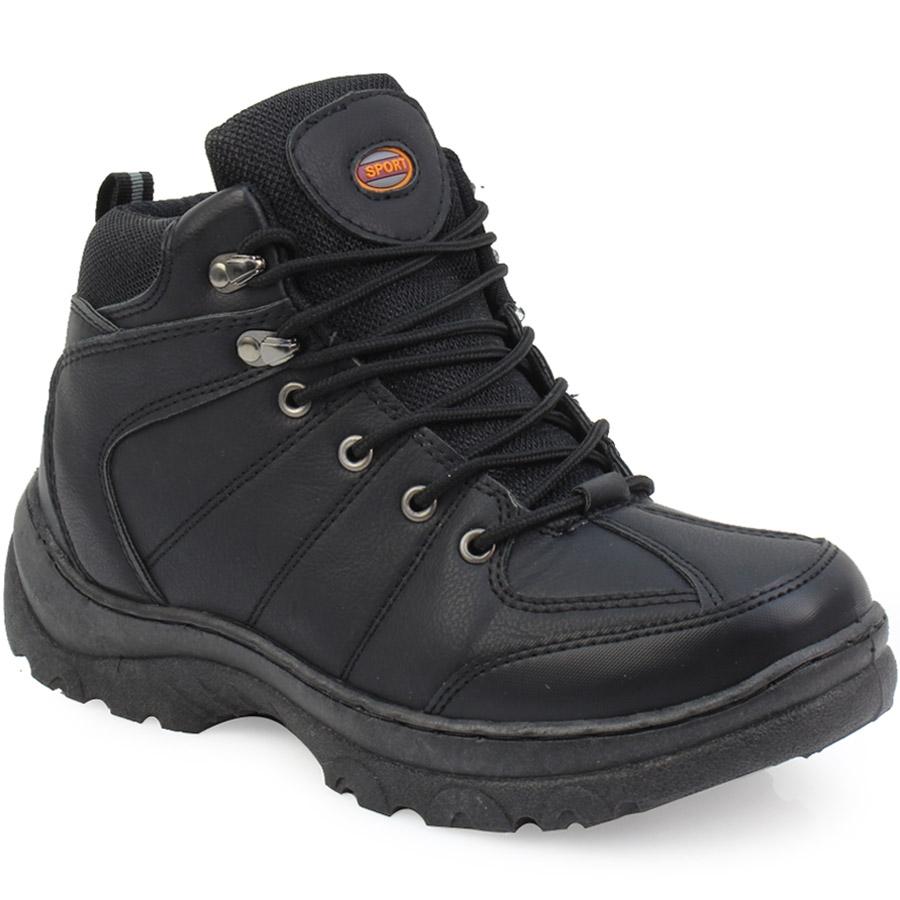 Ανδρικά μποτάκια ορειβατικά με κορδόνια Μαύρο a4228935d23