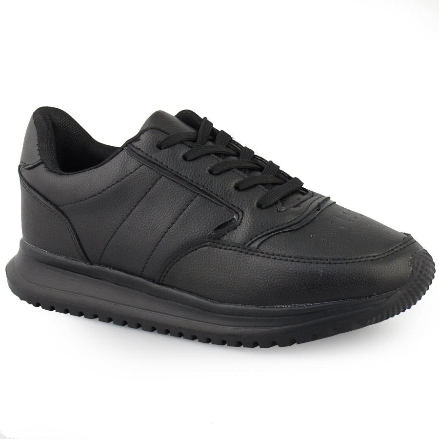 Γυναικεία sneakers μονόχρωμα με τρακτερωτή σόλα Μαύρο 3cecf6fd191