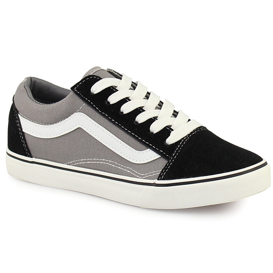 21dd3b3795c Γυναικεία sneakers με διακοσμητική λευκή φάσα Γκρι ⋆ EliteShoes.gr