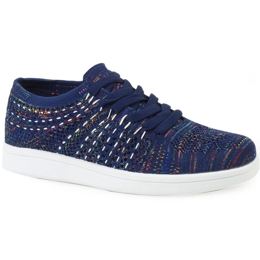 Γυναικεία sneakers με multicolor γαζιά Μπλε