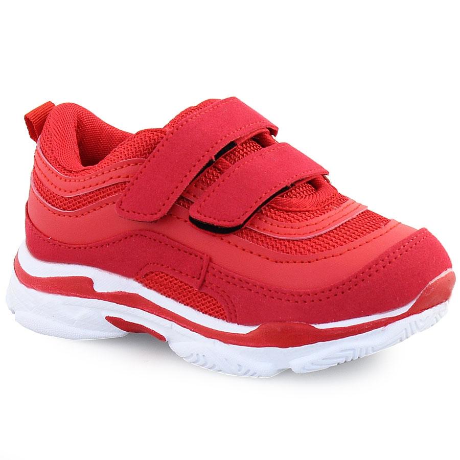 Παιδικά αθλητικά με διακοσμητικές ραφές και αυτοκόλλητα Κόκκινο