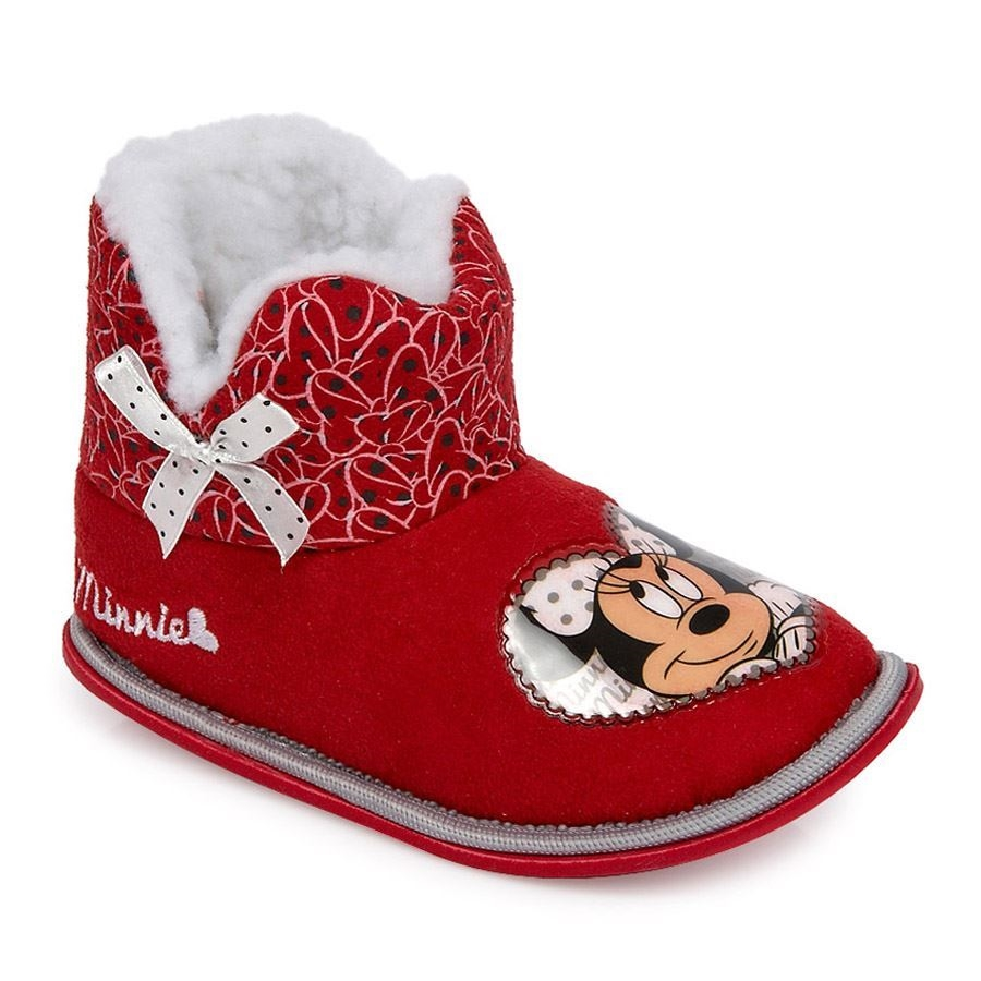 Παντόφλες παιδικές Minnie με γουνάκι Γκρι