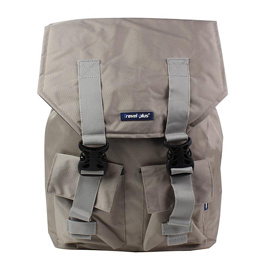 Ανδρικά σακίδια πλάτης με κλιπ και εξωτερικές τσέπες Μπεζ