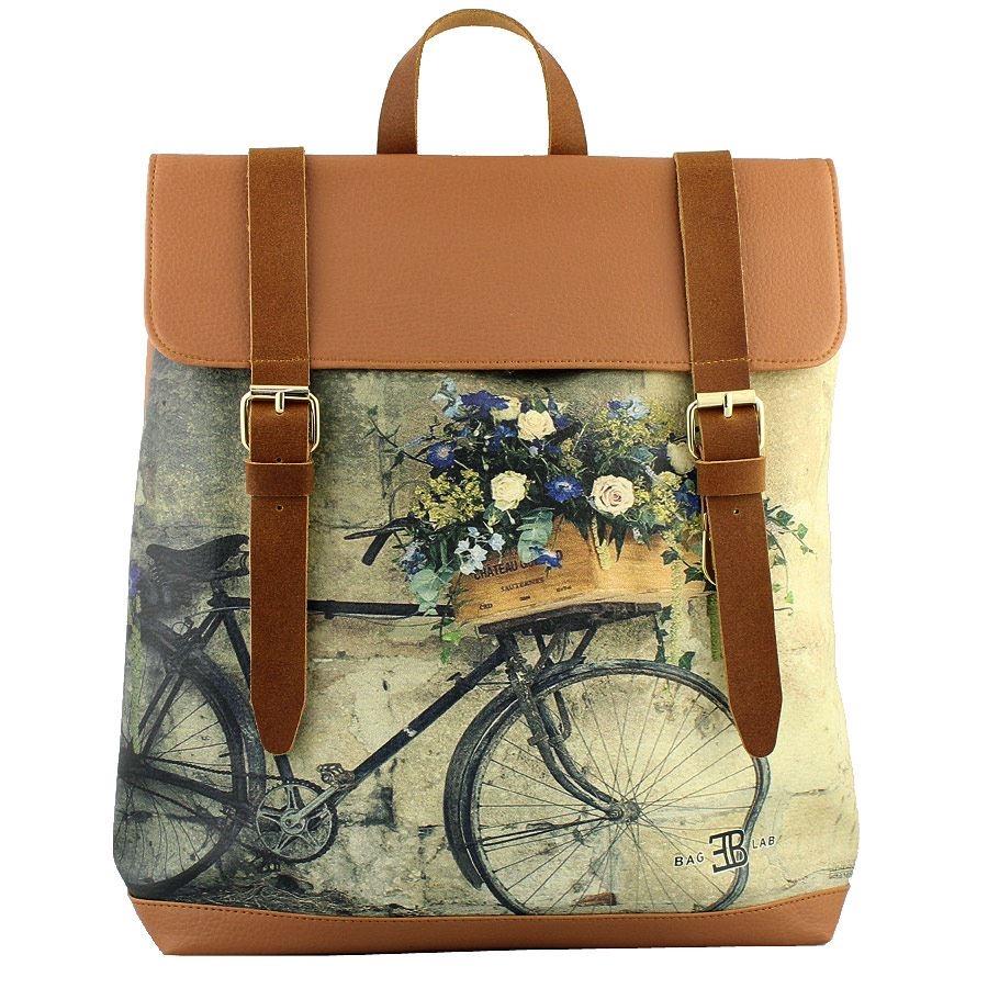 Σακίδια πλάτης με print ποδήλατο με λουλούδια Ταμπά