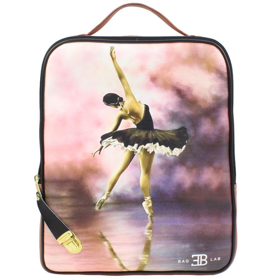 Σακίδια πλάτης με print ballerina in black tutu Ροζ
