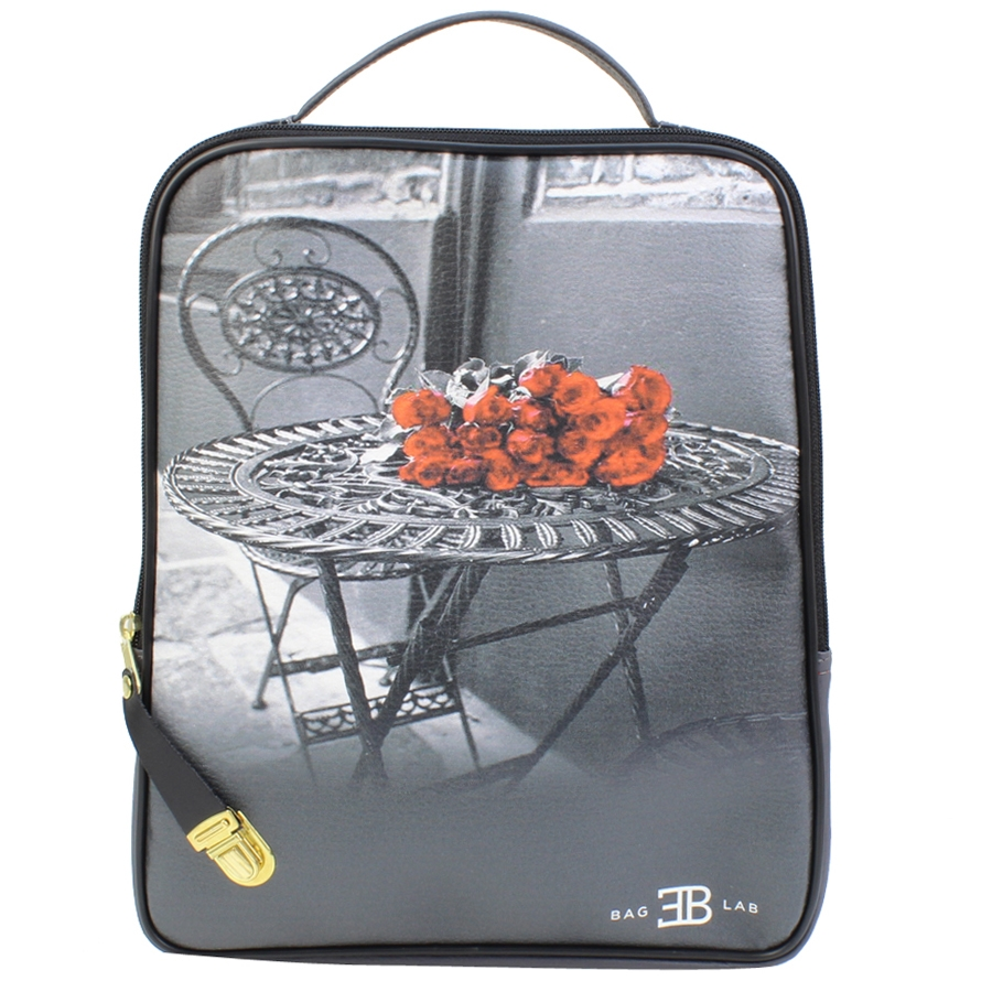 Σακίδια πλάτης με print flowers on a table Γκρι