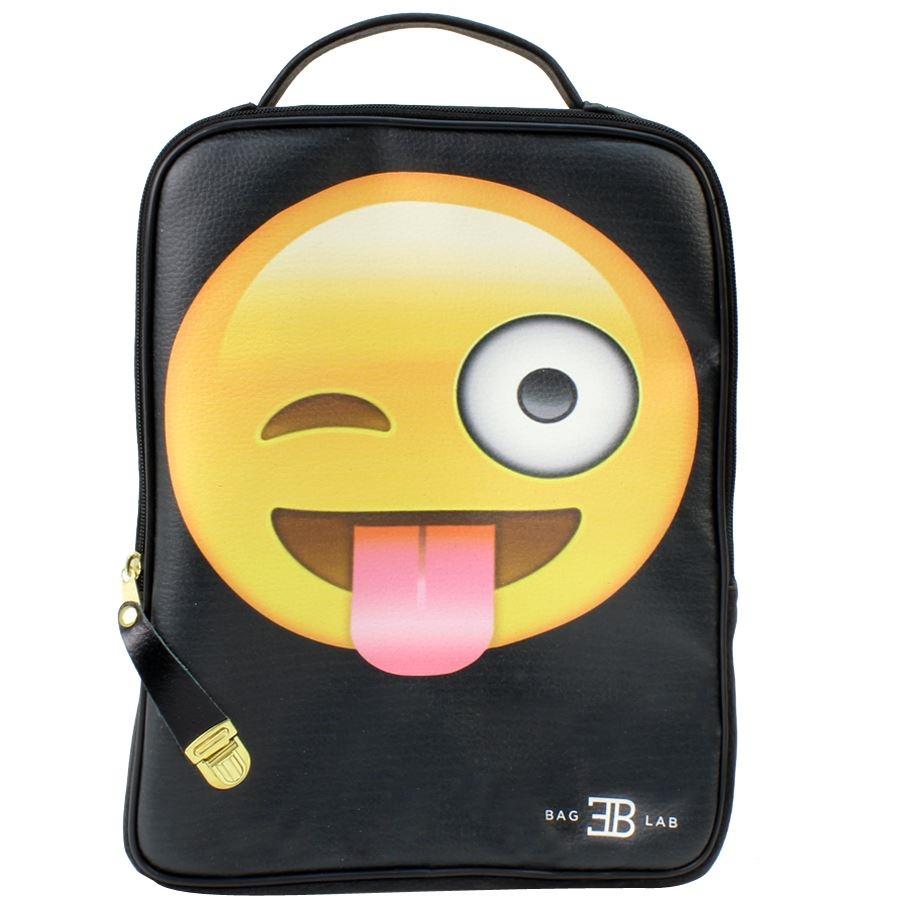 Σακίδια πλάτης με print Smiley face Μαύρο